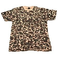 Rare Vintage 1970-1980's Touch Of Gold Duck Camoflage Tshirt Sz Xl