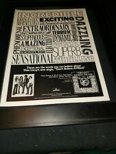 Thin Lizzy Don't Believe A Word Rare Original Promo Poster Ad Framed!