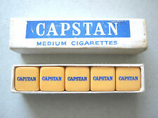 CAPSTAN CIGARETTES VINTAGE POKER DICE X 5 BAKELITE ADVERTISING POKER DICE