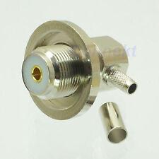 1pce SO239 UHF female nut connector crimp RG58 RG142 LMR195 RG400 right angle 1
