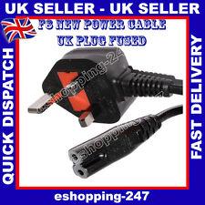Universal Power Negro F8 enchufe de Reino Unido cable para Sony PS1/PS2/PS3/PS4 figura 8 de plomo