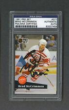 Brad McCrimmon signed Detroit Red Wings 1991 Pro Set hockey card Psa
