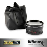 67mm 0.43x ULTIMAXX Professional Wide Angle Lens w/ Macro for Canon Nikon Sony