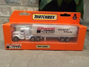 MATCHBOX 1998 Peterbilt PARCEL DIRECT Semi Tractor Trailer RARE VINTAGE NEW!