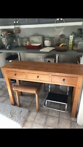 Solid Teak Wood Console Table Hall Table Side End Table