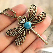 Vintage Bronze Pretty Dragonfly Necklace Boho Jewellery Gypsy Bohemian A062