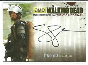 The Walking Dead Season 4 Pt. 2 GOLD Autographed Steven Yeun  Card SY2 FREE S/H