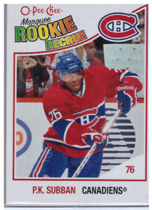 PK SUBBAN OPC MARQUEE ROOKIE CARD