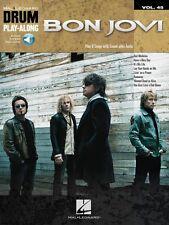 Bon Jovi Drum Play-Along Book and Audio NEW 000200891