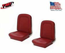 1966 Mustang Front Bucket Seat Upholstery- Pair- Drk Red Made by TMI - IN STOCK!