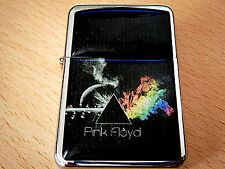 PINK FLOYD DARK SIDE OF THE MOON BAND ROCK STAR LIGHTER & extra zippo flints