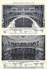 Schiller-théâtre BERLIN O. * schiller-théâtre BERLIN N. * historique plans 1905