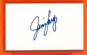 🚨 JIM LANGER signed 3x5 index card AUTO Autograph MIAMI DOLPHINS HOF 🤩 📈