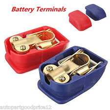 Quick Release Positive & Negative Battery Terminals Connector Clamps Car Caravan