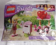 NEW LEGO Friends Stephanie and Mailbox (30105) Valentine Heart Flowers Candy