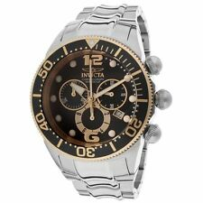 New Mens Invicta 14202 Lupah Chronograph Black Dial Stainless Steel Watch