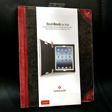 NEW Twelve South BookBook Folio Brown/Red Leather Vintage Case for iPad 2/3/4