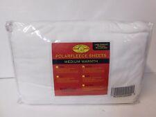 Malden Mills Polarfleece Sheet Set with Lace Crochet Hem-Twin-White-Nip-H21222 1