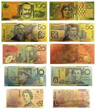 24KT Limited Edition Gold Colour Australian Bank Note Set Rare Banknote Album