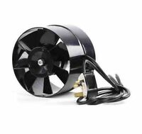 6 inch / 150mm In Line Hydroponic Grow Room Air Inlet Tent Spigot Fan Black