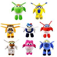 "20cm/8"" Super Wings Jett Plush Toys Super Wings Aircraft Robot Toys Kids Gift @9"