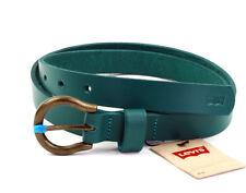LEVI´S Cinturón de cuero unisex 221818 green correa talla 85 cm (Breite 2cm)