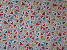"""SANDERSON CURTAIN FABRIC DESIGN """"Mosaica"""" 2.4 METRES BRIGHTS/MULTI (240 CM)"""