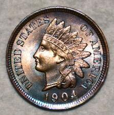 Brilliant Uncirculated 1904 Indian Head Cent, Razor-sharp specimen