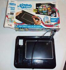 Black u Draw Game Tablet with u Draw Studio Game - Nintendo Wii EUC - READ -