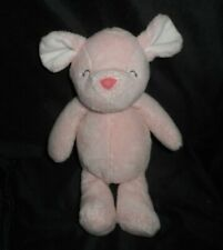 """New listing 10"""" Carter'S 2014 Baby Pink Sleeping Mouse 66740 Stuffed Animal Plush Toy Lovey"""