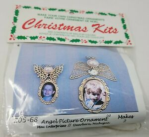 Filigree Angel Picture Ornament Christmas Beading Craft Kit Merri Mac Vintage