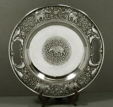 Indian Silver Tray                 c1890 KUTCH - HAND DECORATED