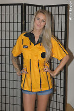 Soccer Referee Uniform Shirt - Official Sports - Yellow Gold - Adult S