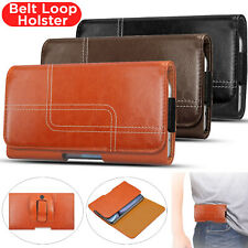 Real Leather Belt Clip Loop Holster Case Cover For iPhone 6 7 8 Plus X XS XR 11