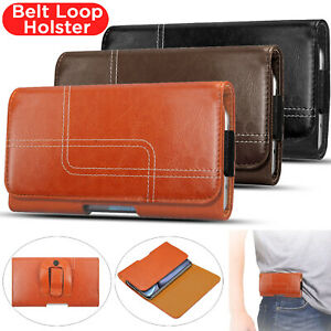 Belt Clip Loop Holster Leather Pouch Phone Holder For iPhone 12 11 X XS XR 8 7 6