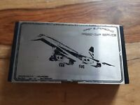 Concorde First Supersonic Passenger Service Collectors Tin Used