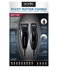 ANDIS Pivot Pro Trimmer Combo, Professional Speed Master Clipper #24075 Black