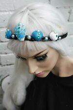 Mermaid Pearl Crown Blue Siren Sea Shell Festival Head Band PASTELLO Gobbolino