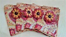 """Cactus Flower Rings & Napkins Set of 4 Each Heavy NEW Cotton 20"""" x 20"""" NT"""