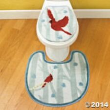 Cardinal Toilet Lid Cover & Rug