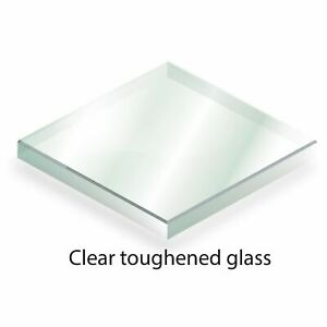 Bespoke Toughened Glass - Cut to Size - 4mm Clear Glass, Polished