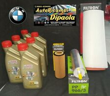 KIT TAGLIANDO BMW SERIE 3 318D 320D 330 E90 E91 E92 E93 6L CASTROL 5W30 + FILTRI