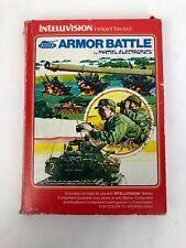 "1979 MATTEL INTELLIVISION ""ARMOR BATTLE"" W/2 CONTROLLER OVERLAYS & INSTRUCTIONS!"
