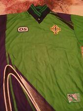 More details for mens football shirt. 1998/1999 northern ireland home shirt.