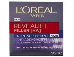 Loreal Revitalift Filler & Hyaluronic Acid Replumping **NIGHT**Cream 50ml