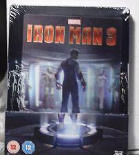 NEW IRON MAN 3 ON 3D+2D BLU-RAY STEELBOOK! W-LENTI MAGNET! UK ZAVVI+REGION FREE