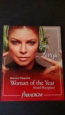 FERGIE WOMAN OF THE YEAR AWARD RECIPIENT. RARE ORIGINAL PRINT PROMO POSTER AD
