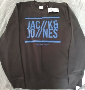 Schönes Sweat-Shirt von JACK & JONES, schwarz, Gr. L, neu mit Etikett!!