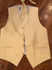 Cardi Venetian Yellow tuxedo vest /longtie size Medium