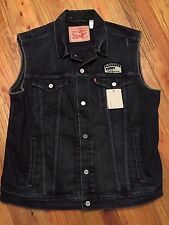 Levis x Jim Phillips Vest Screaming Hand Denim Vest Pleasure Point California